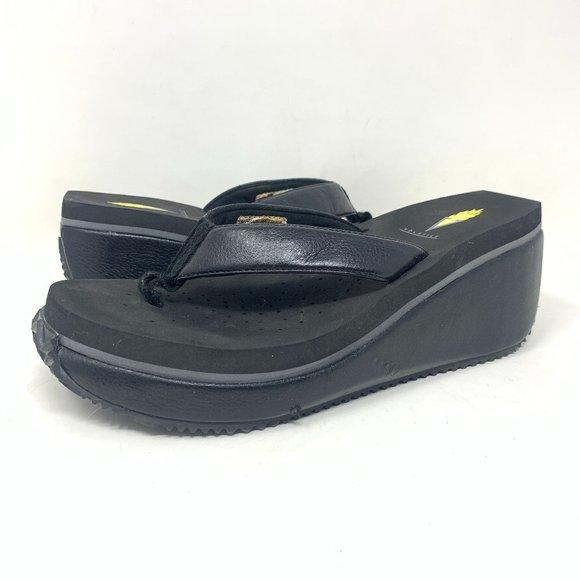 Volatile Wedge Flip Flop Sandals Platform Summer